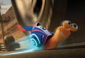турбо, мультфилм, скорость, 3d, анимация, траса, улитка