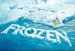 Обои 2013, FROZEN, лед, океан, буквы, трещены, айсберг, утка, дисней, disney
