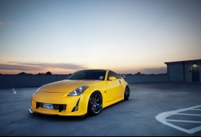 ���� auto, cars, Nissan 350z, Nissan, 350z, Tuning, tuning auto, wallpapers auto, City, Parking, Photo