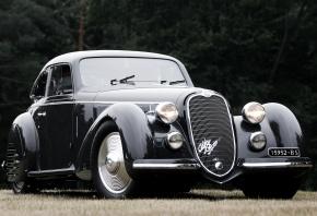 Alfa Romeo, 8C, 2900B, Corto, Touring, Berlinetta, 1937, Альфа Ромео, передок, ретро, фон