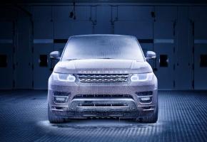 Обои Land Rover, Range Rover, Sport, Холод, Мороз, Лед, Передок, Фары, Авто, Маш ...