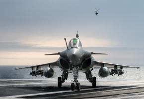 Dassault Rafale, французский, многоцелевой, истребитель, четвертого, поколения, палуба, небо