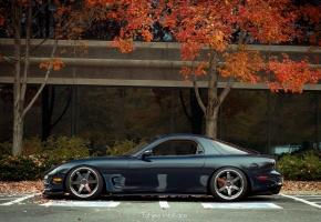 Обои Mazda, RX7, мазда, te37, autumn, осень