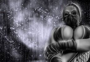 китана, Mortal kombat, темный фон, kitana, маска