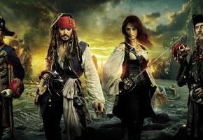 пираты, карибского, моря, на странных, берегах
