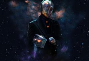 Обои Slenderman, игра, пиджак, куб, вселенная