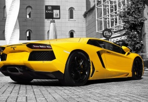 ���� Lamborghini, Aventador, LP 700, yellow, �����������, ���������, ������