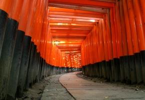 храм, япония, синтоизм, дерево, красный, чёрный