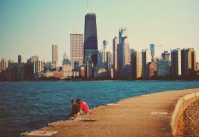 Chicago, чикаго, небоскребы, мичиган