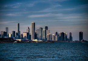 Обои illinois, Chicago, USA, чикаго, амарика, сша, река мичиган, небосребы, city