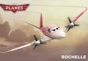 Обои Рошель, девочка, полет, глазки, самолеты