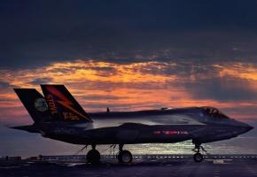 Обои Lockheed, Martin, F-35, Lightning II, самолет, небо, полет