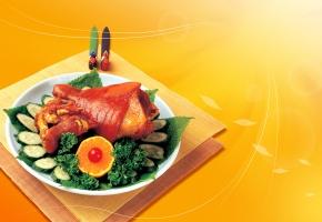 Обои мясо, петрушка, вкусно, Огурцы, апельсин
