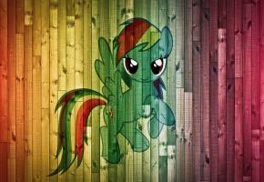Обои пони, фон, доски, цвета, краски
