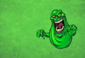 Обои монстр, monster, зеленый, язык, слюни, слизистый, Охотники за привидениями, привидение