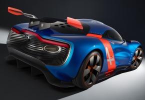 Обои Renault, Alpine, A110-50, Concept, Рено, Алпайн, концепт, вид сзади, спойлер, антикрыло