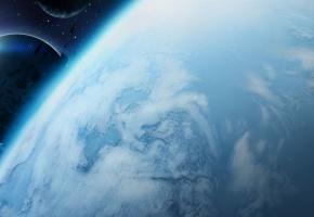 арт, планета, космос, спутники, астероиды