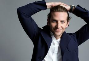 Bradley Cooper, Брэдли Купер, актер, мужчина, улыбка, рубашка, часы