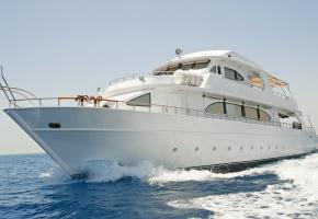 Обои Яхта, белая, Море, волны, Скорость