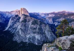 горы, лес, панорама, California, Калифорния, долина