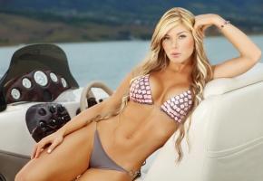 Обои блондинка, красавица, Sofia Jaramillo, модель, купальник