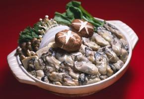 Обои Seafood, морепродукты, моллюски, грибы, зелень, рисовая лапша