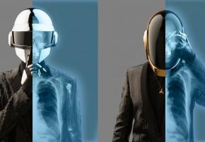 Группа, Daft Punk, шлем, музыка, рентген