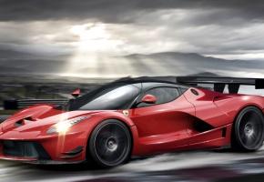 Обои Ferrari, LaFerrari, red, феррари, красная, скорость