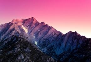 Обои Alabama Hills, California, US, гора, снег, вершина, закат