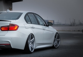 ���� bmw, car, vossen, white, tuning