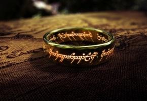 Обои кольцо, властелин колец, надписи, карта