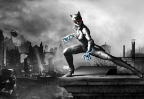 Обои женщина-кошка, catwoman, Batman arkham city armored edition, selina kyle