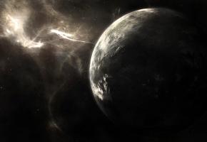 Обои Пространство, туманность, планета, млечный путь, звезды