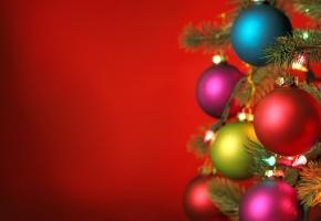 Обои новый год, рождество, огни, шары, украшения, new year, christmas, lights, balls, елка