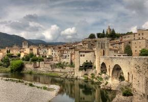 Обои Spain, Catalunya, испания, река, дома, здания, природа