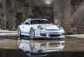 ���� Porsche, 997, Carrera S, EurocupGT, white, �����, ��������, ���������