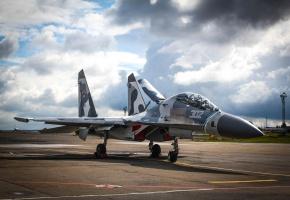 Обои Sukhoi, Su-27, су-27сухой, небо, истребитель