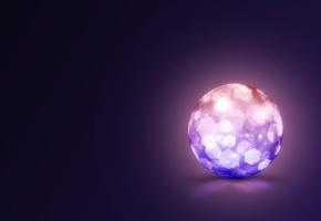Обои кристалл, сфера, цвета, фон, шар
