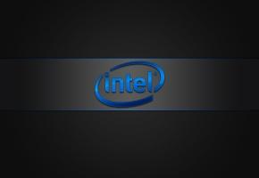 Обои Intel, бренд, логотип, фон, компьютеры