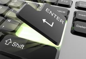 Обои Enter, клавиша, стрелка, клавиатура