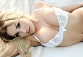 ���� Ashley Emma, blondes, girls, women, models, cleavage, boobs, tits, lingerie, white lingerie, sensual, sexy, underwear, beautiful, body, pierced