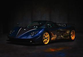 Обои Спортивный автомобиль, Pagani, гонка, диски, аэрография