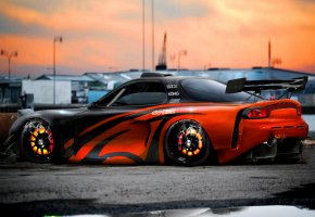 Обои tuning, mazda rx7, virtual tuning