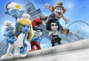 ���� The Smurfs 2, Paris, Eiffel tower, �������� 2, �����, �����, �����, �������� �����
