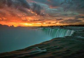 Обои Канада, Онтарио, река Ниагара, утро, восход