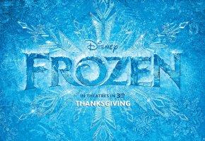 Обои Frozen, Disney, Холодное сердце, постер, лёд, снежинка, узоры, зима