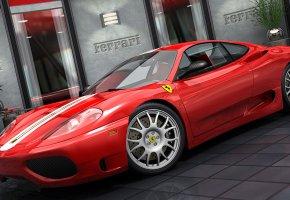Обои Ferrari, Challenge, ферарри, красная, Спортивный автомобиль