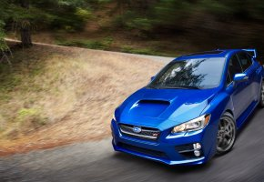 Обои Subaru, wrx sti, sti, 2015, субару, синяя, стиль