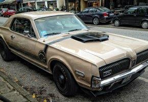 mercury, cougar, 1967, american, авто, старое, меркури