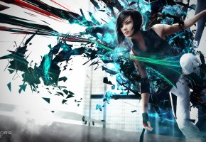 ���� Mirror\'s Edge 2, Faith Connors, girl, Mirrors Edge 2, Faith, abstract, Connors, Electronic Arts, EA, DICE, video games, background